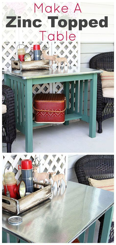 DIY Instructions For Making A Zinc Top Table. Dining Table Could Be Used  Inside Or