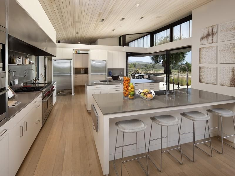 Kitchen Decor Designs Decorating Ideas White Grey Modern Rustic Sotheby S International Realty Montecito Coast Village Road