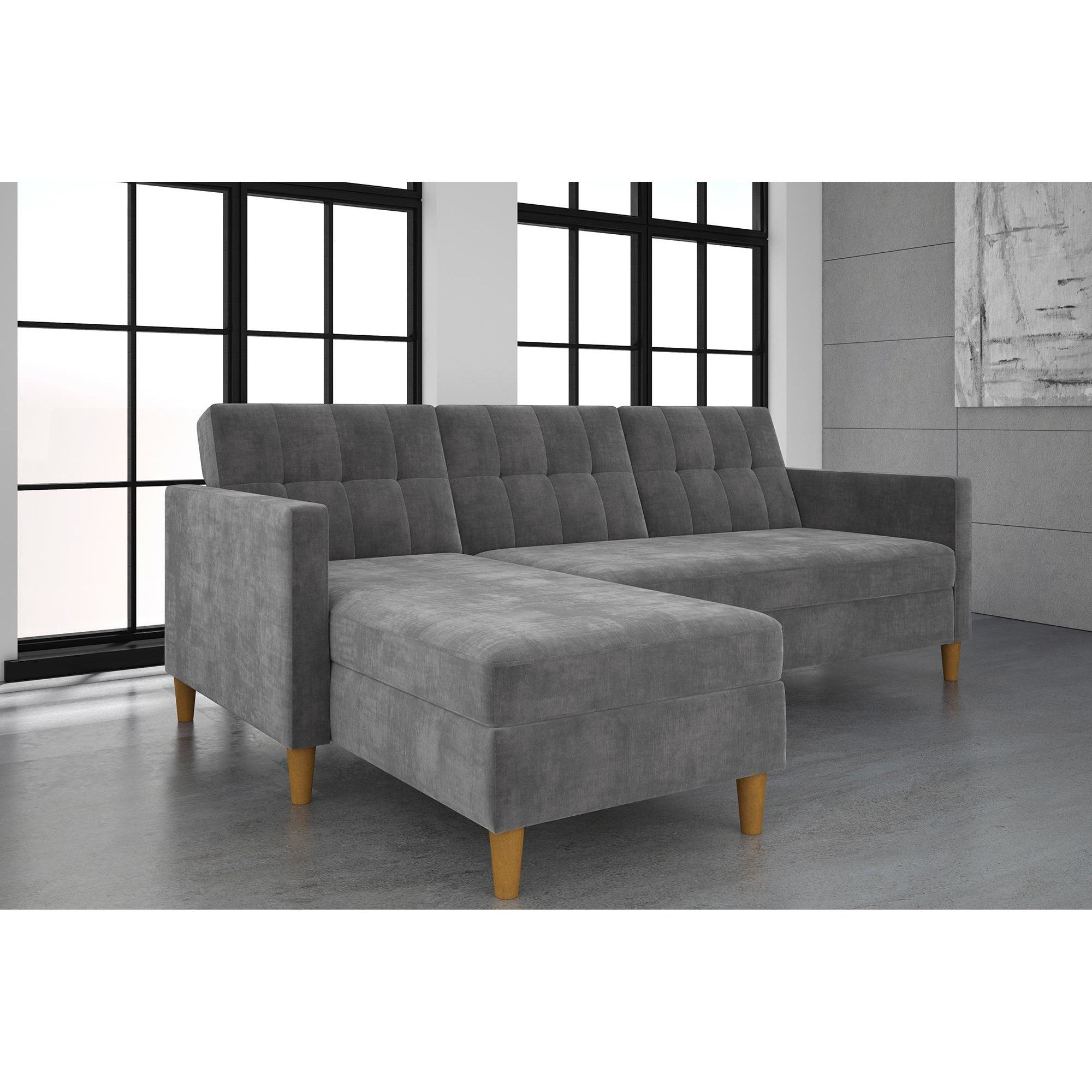 Stigall Futon Storage Reversible Sleeper Sectional