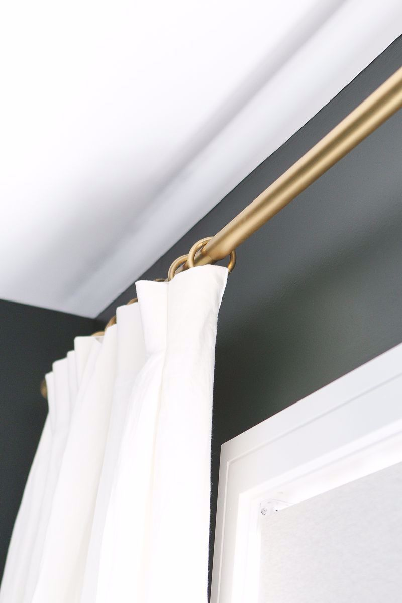 Gold Curtain Rod And Curtain Rings We Just Hung Curtains In The