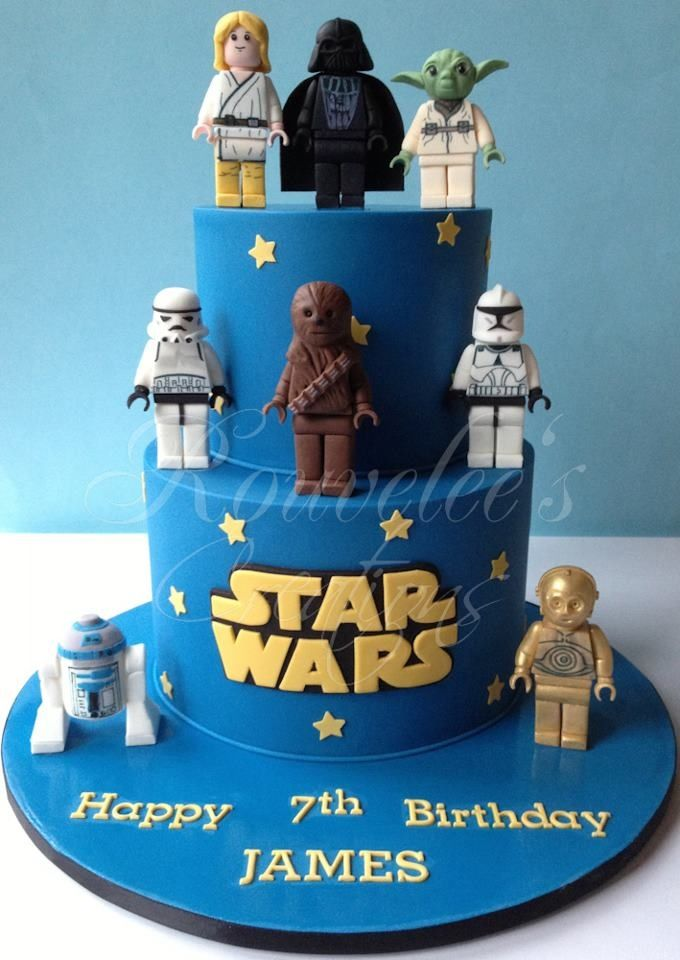 7 Tartas de cumpleaos Star Wars Star wars cake Lego star wars