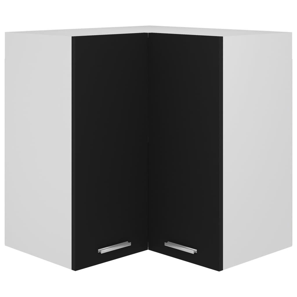 Hanging Corner Cabinet Black 57x57x60 cm Chipboard
