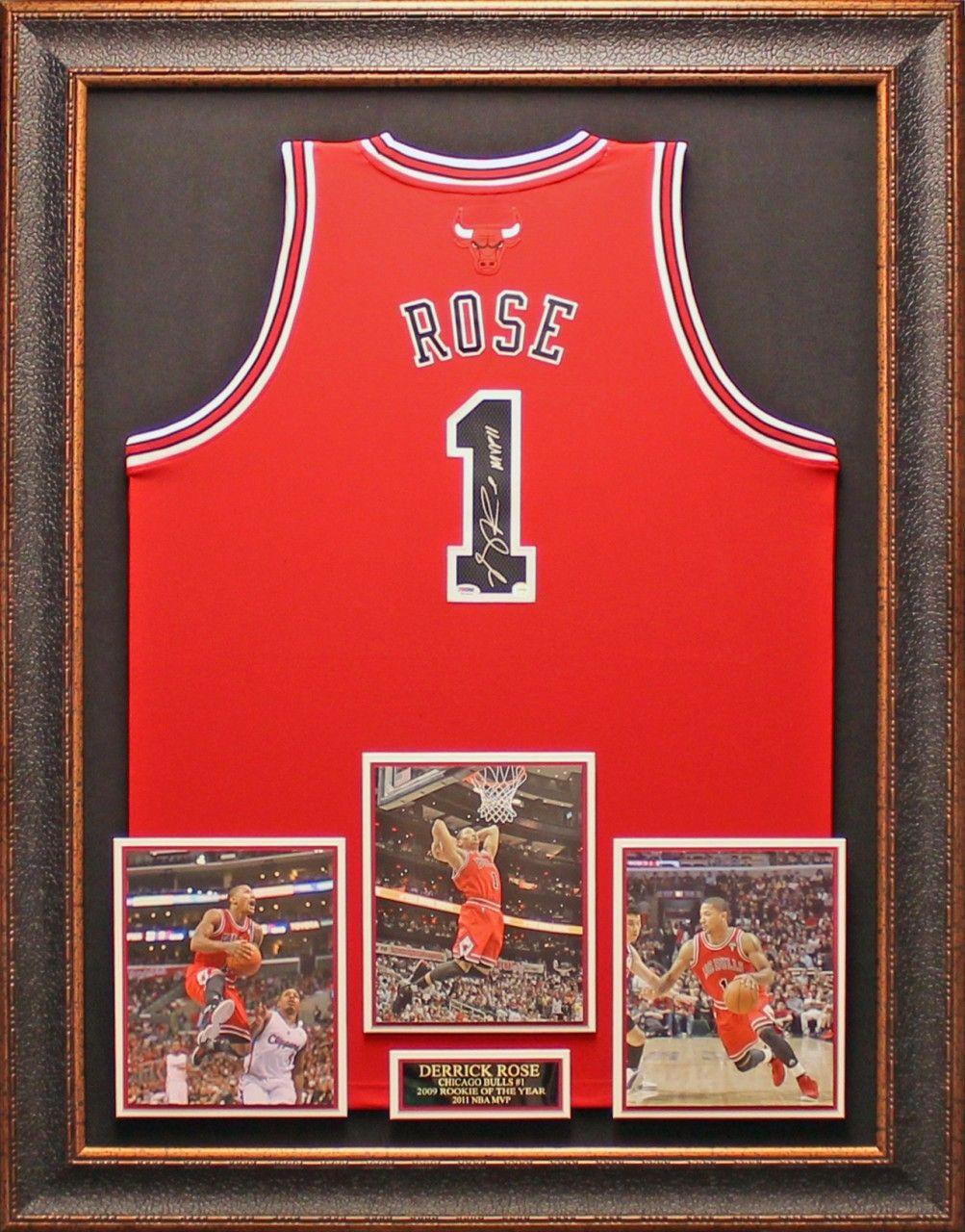 Derrick Rose Autographed Framed Jersey  b193ce1fe