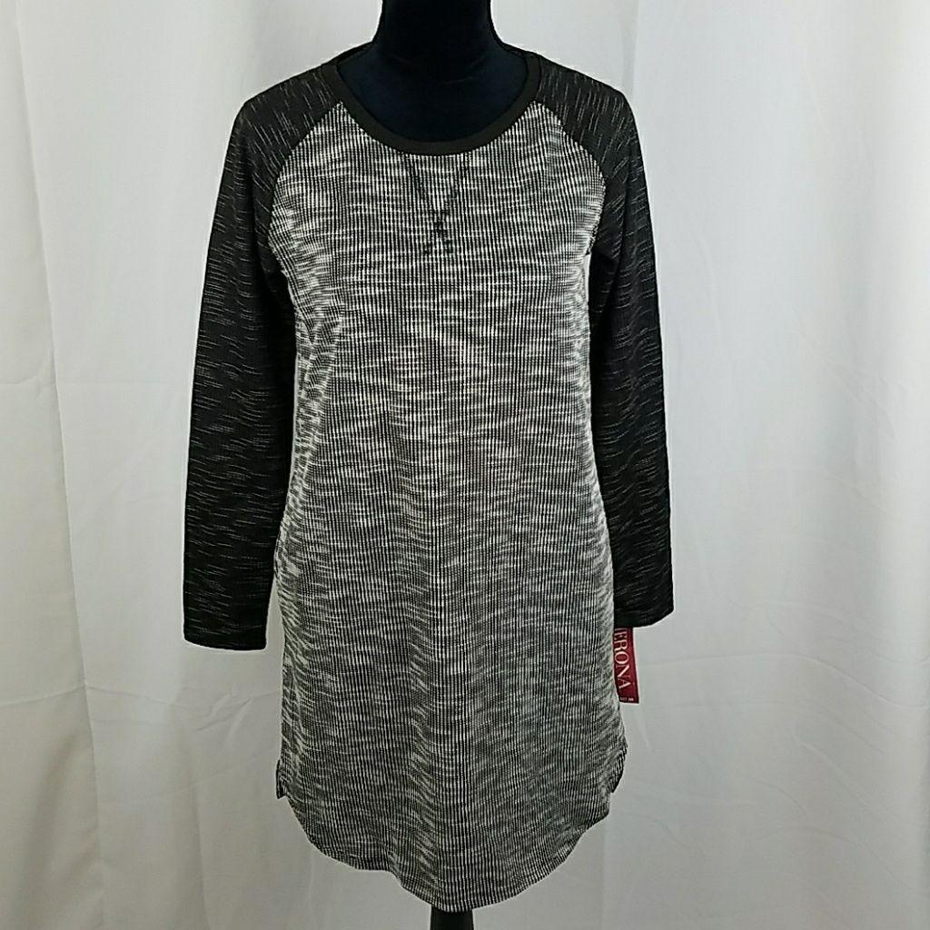 Merona women s shift dress ebony long sleeve pocke products