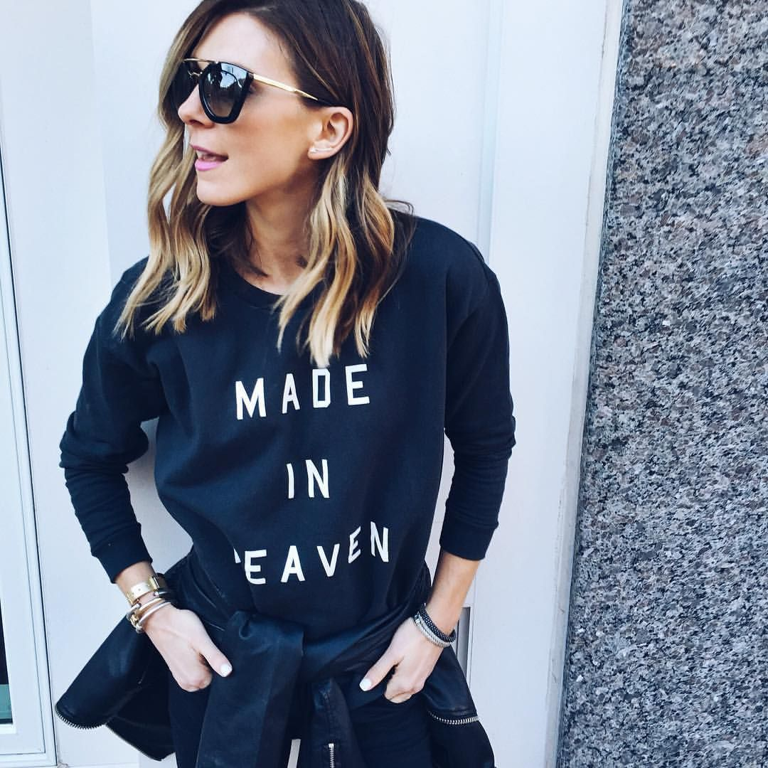"Becky Hillyard på Instagram: ""Casual Friday. ✔️✔️ #TGIF #ootd @southparade (use code HEAVEN20 for 20% off my sweatshirt)"""