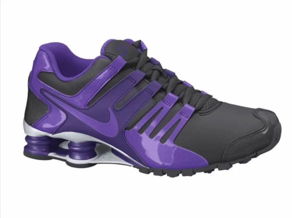 outlet store 6cd47 f8fab ... NEW NIKE SHOX CURRENT Running WOMENS 7.5 Black Purple 130 Nike Running  ...