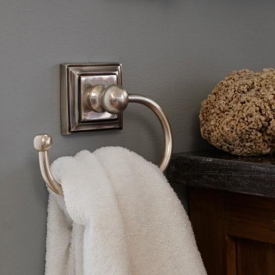 Landhaus Bad Accessoires Messing Keramik Antik Handtuchstange Handtuchhalter NEU