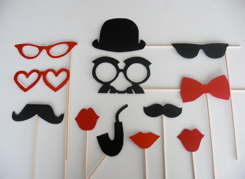 lot photobooth mariage rouge et noir loisirs cr atifs scrapbooking par accessoires photobooth. Black Bedroom Furniture Sets. Home Design Ideas
