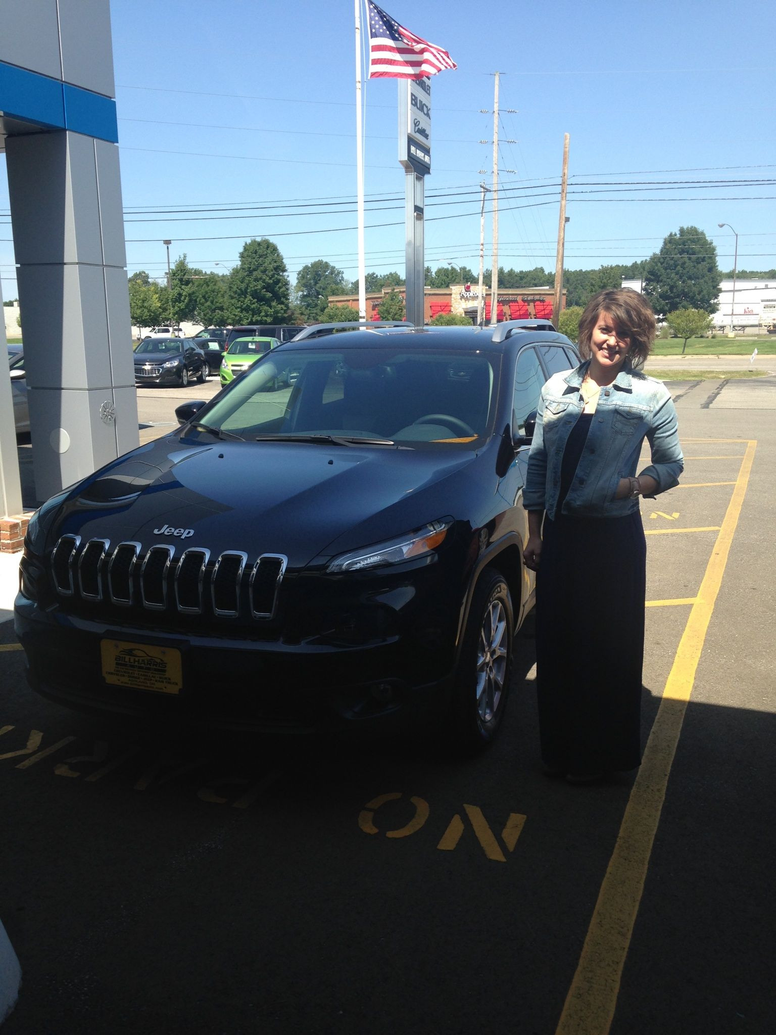 Emily Fruth is all smiles next to her new #2014 #Jeep #Cherokee! Thanks, Emily!