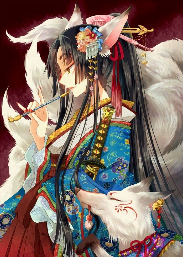 Kitsune Anime Anime Kimono Anime Backgrounds Wallpapers Anime