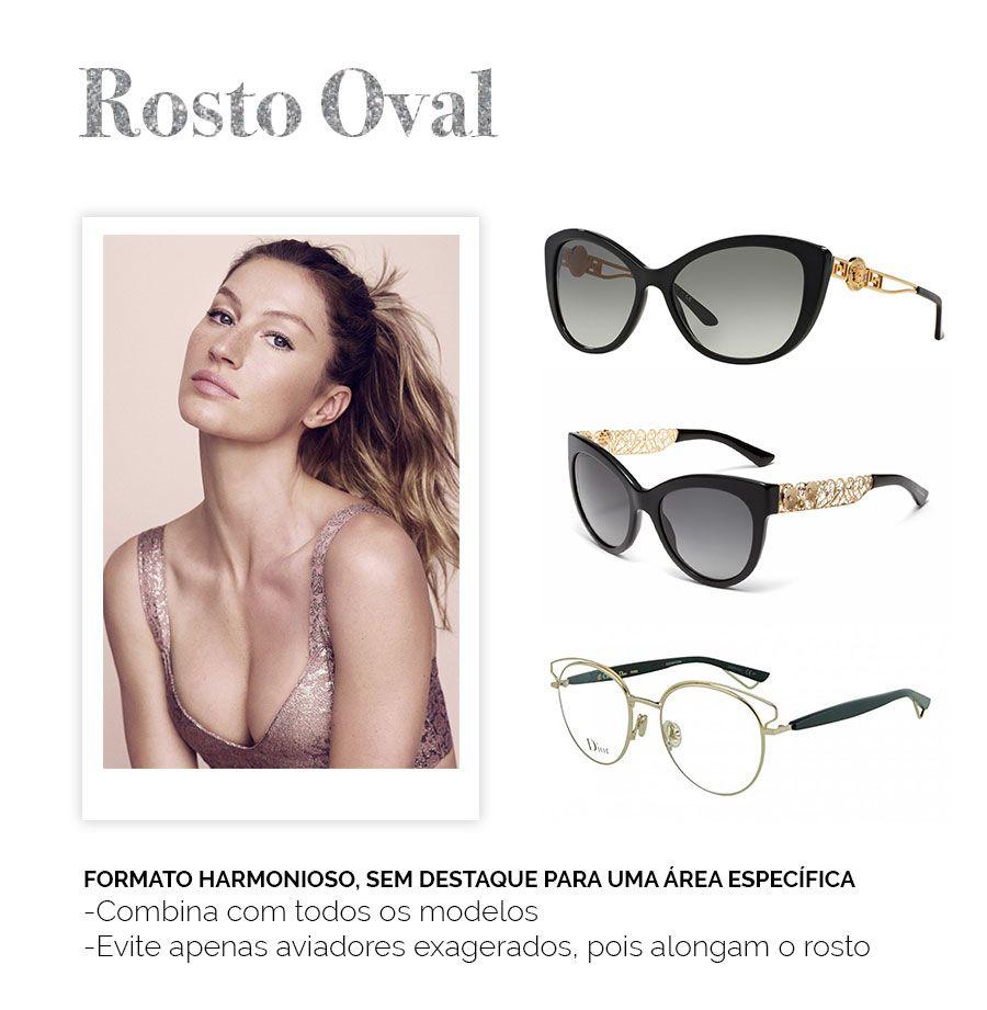 Modelos De Oculos Para Cada Rosto Rosto Oval Rosto Oval