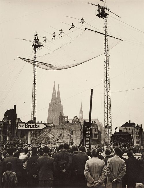 "wasbella102: ""High-Wire Circus Artists at Heumarkt, Cologne, 1946 """