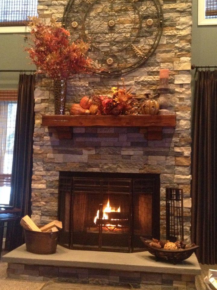 Fall Fireplace Mantel Decorating Ideas: Outfit Ideas / Stitch Fix