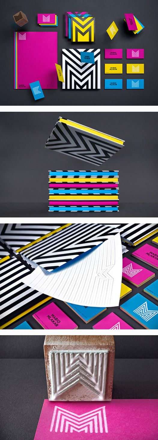Mario Mlakar identity #branding #identity #design via @Elisa Bieg abbadessa
