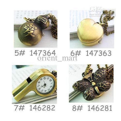 Wholesale Antique Happy Heart Pocket Watch Steampunk Open Case Pocket Watch Pendant Necklace Sweater Chain, $3.94-4.37/Piece | DHgate