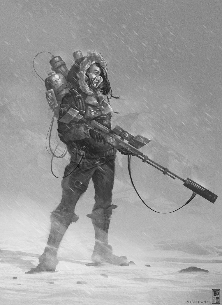 403 Forbidden Sniper Girl Sniper Character Art