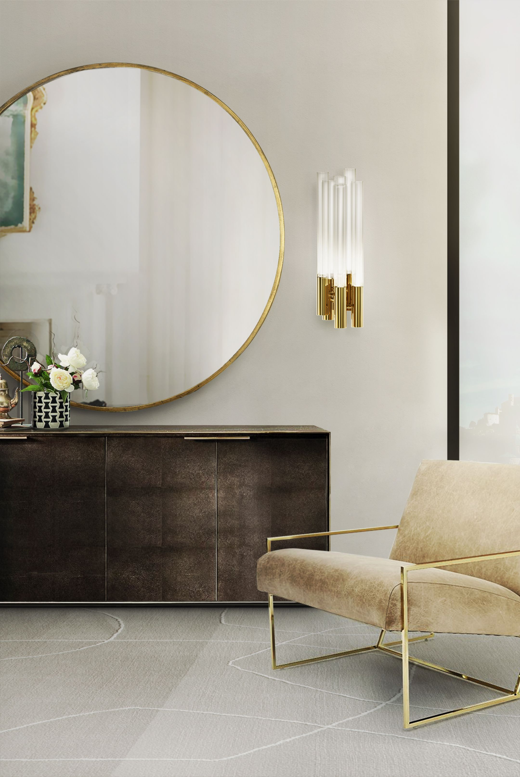 Wohnzimmerspiegel über couch create a glamorous decor with luxxuus wall lamps  home decor