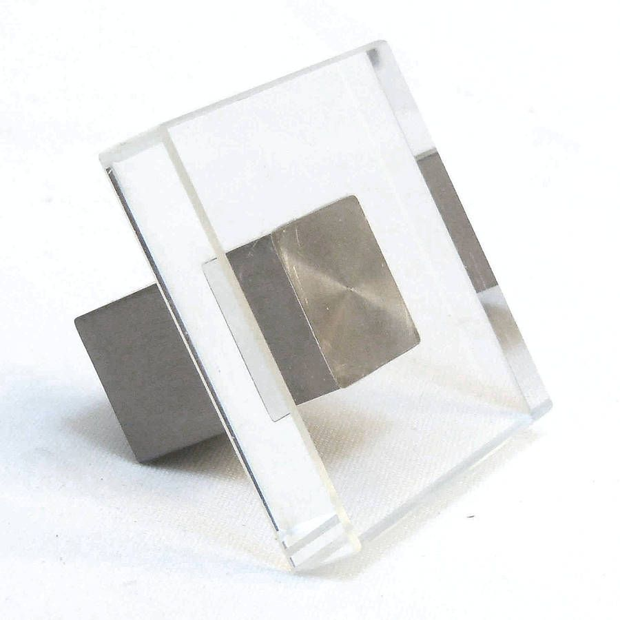clear square glass cupboard door knobs by pushka knobs ...