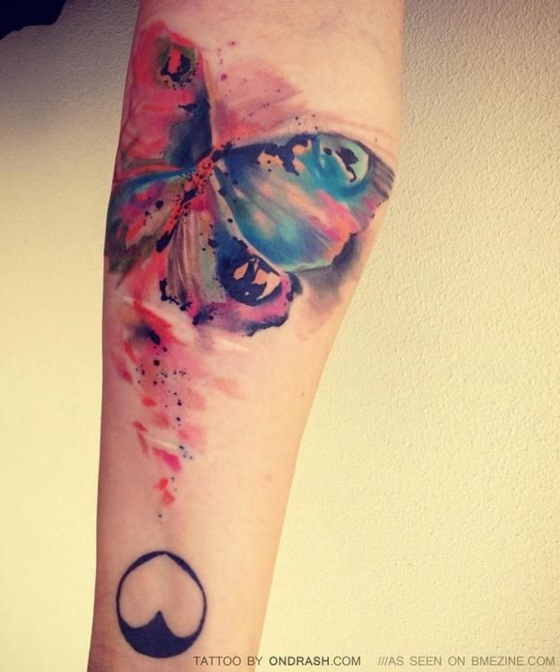 39 People With Watercolor Paintings Tattooed To Their Bodies