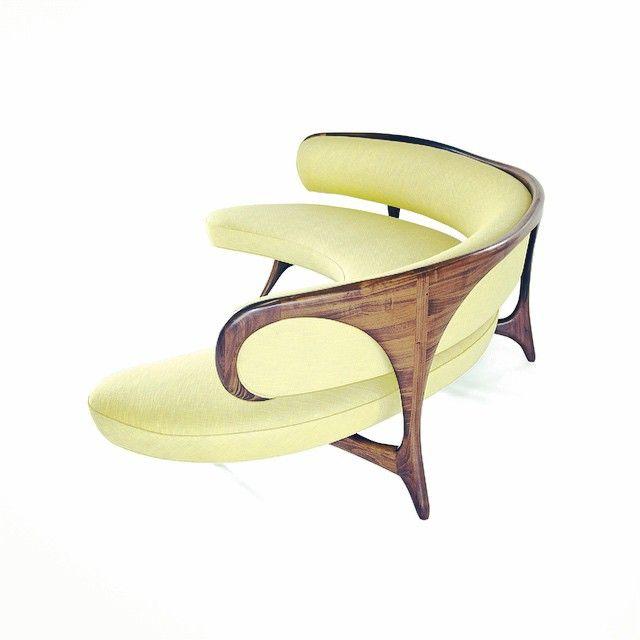 Curved Floating Sofa: €�This Kagan(?) #custom Sofa Incorporates An Organic