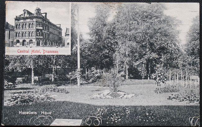 Drammen. Central hotel. Edv. Strøms bogh brukt 1912