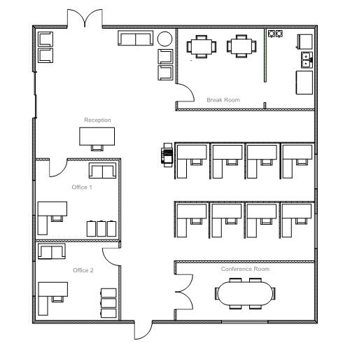 Office breakfast pinterest office floor plan and for Typical office floor plan