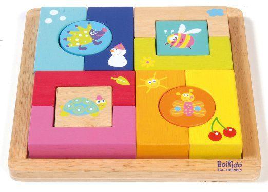 Boikido BKD80913006 - Puzzle a Blocchi, 4 Stagioni, in Legno: Amazon.it: Giochi e giocattoli