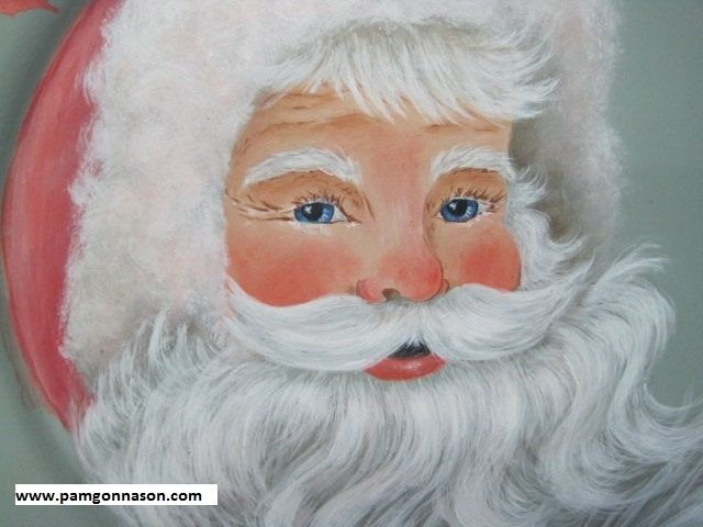 """Santa Tole Painting Patterns   Decorative ( tole) painting pattern packet """"Santa in Pink"""". $7.50, via ..."""