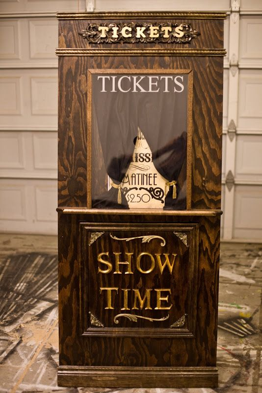 DIY Build Your Own Ticket Booth  Create Your Own Movie Ticket