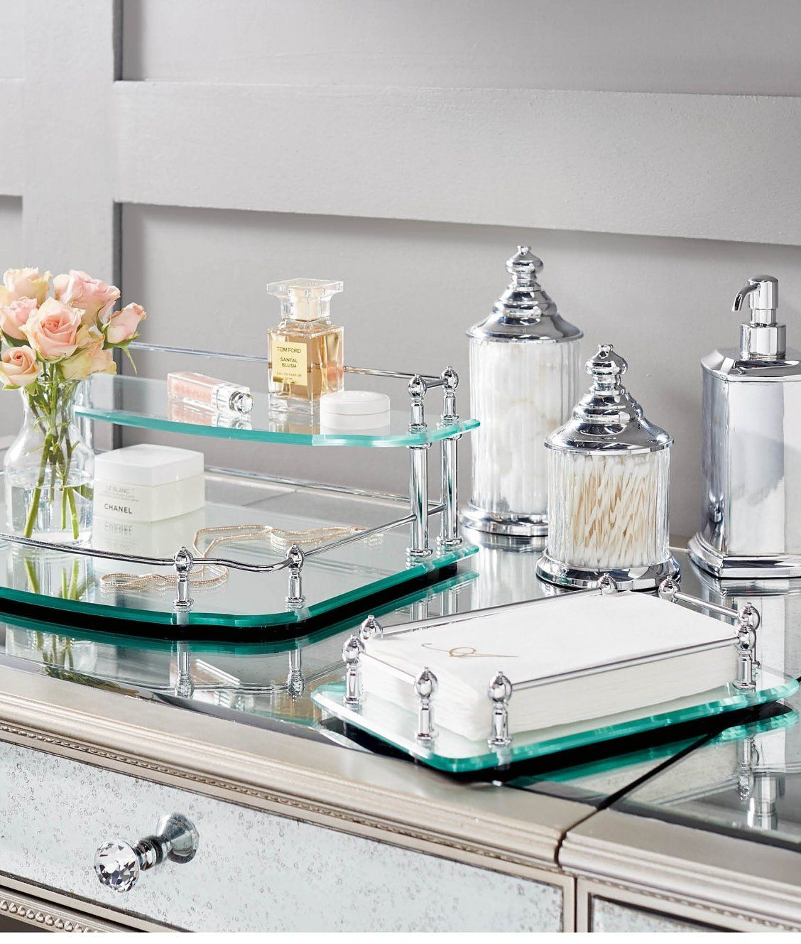 6d2f09515d4b4 Resort Bath Accessories in 2019 | Spa Style | Vanity tray, Bath ...