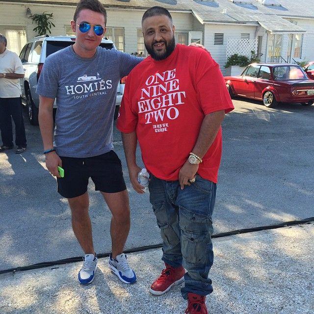 8b0c193d6 DJ Khaled wearing the  Spizike  Air Jordan VI 6