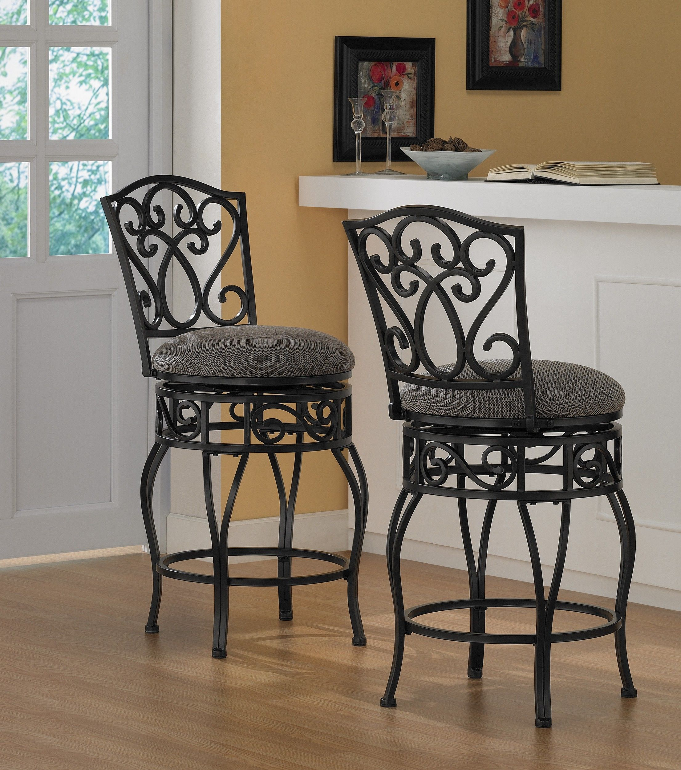 Chase 24 Inch Swivel Counter Stools (Set Of 2) By I Love Living. Swivel  Counter StoolsBar StoolsWrought IronFurniture ...