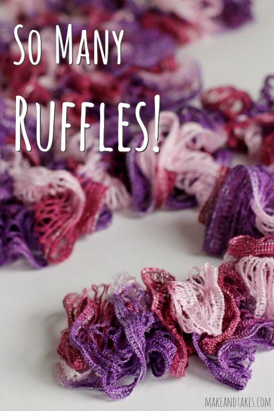 Crochet Ruffles Scarf Pattern | Rezept