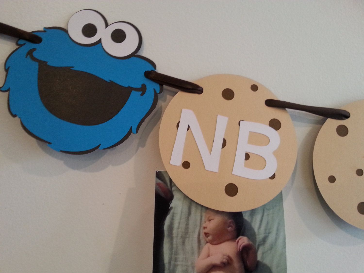 Cookie Monster First Birthday Monthly Photo Banner free shipping! by TutusAndSuperheroes on Etsy