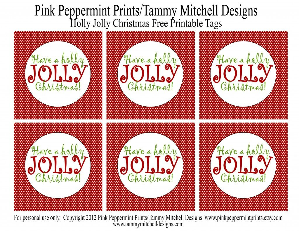 Free Printable Holly Jolly Christmas Tags To Make Jolly Rancher Neighbor Or Teacher Ts Also