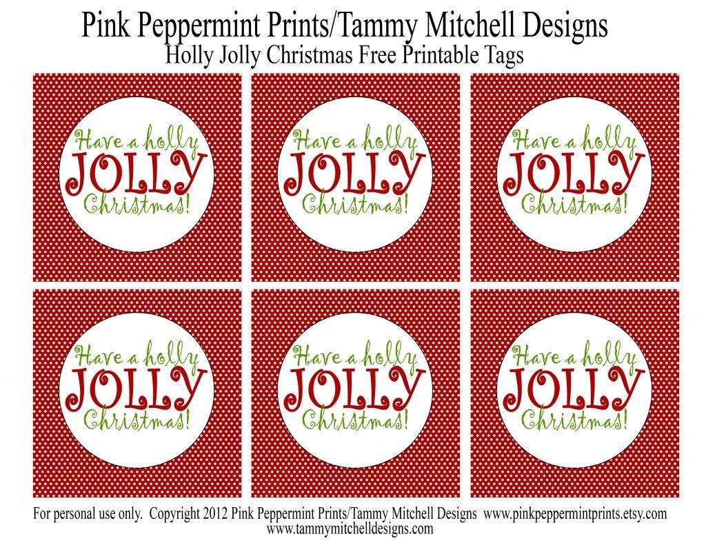 Free Printable Holly Jolly Christmas Tags To Make Jolly