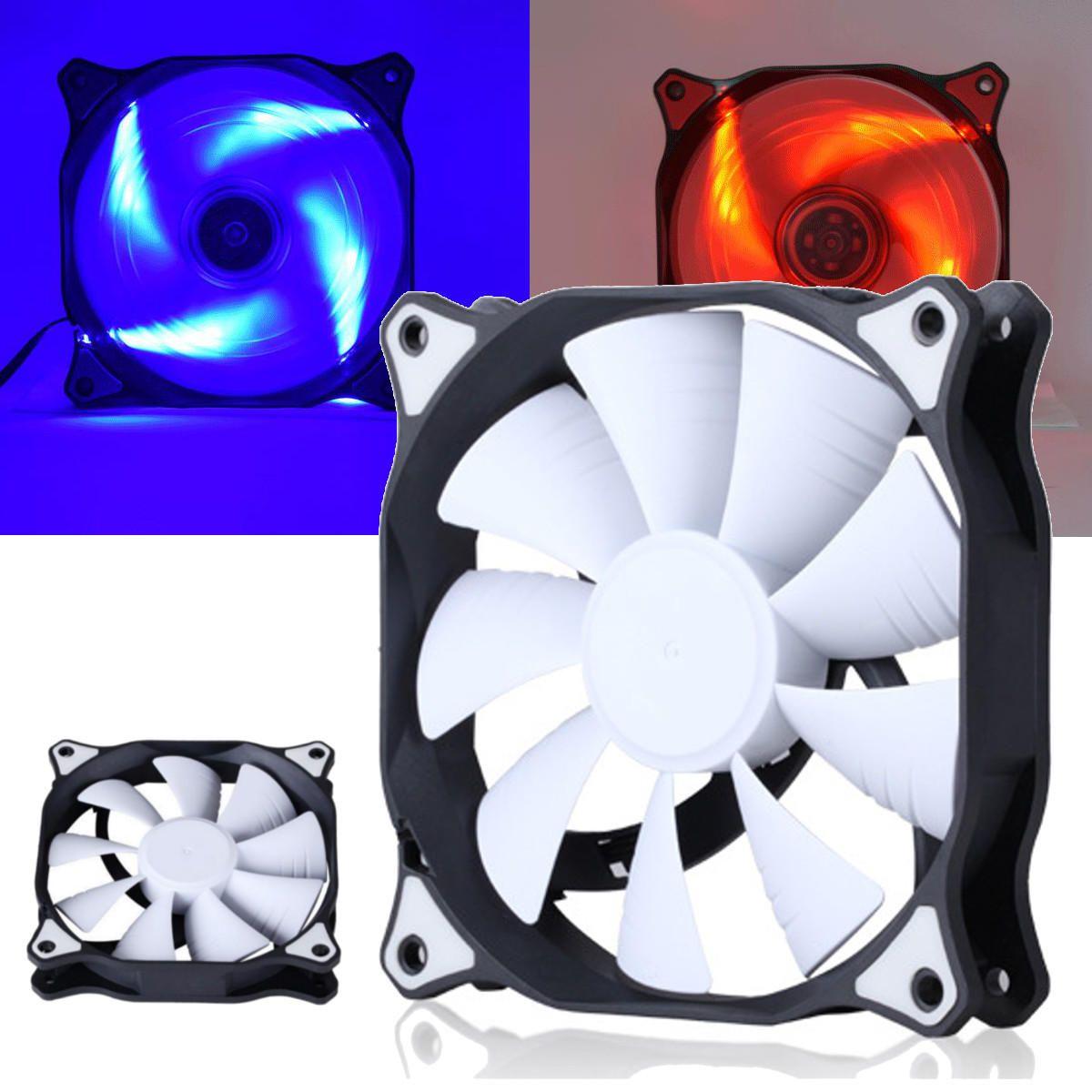 12cm 3 Pin 4 Pin Led Light Computer Cooling Fan Cooler Heatsink