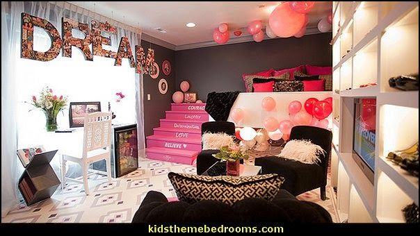 girls boutique theme bedroom ideas - shopping boutique style playroom
