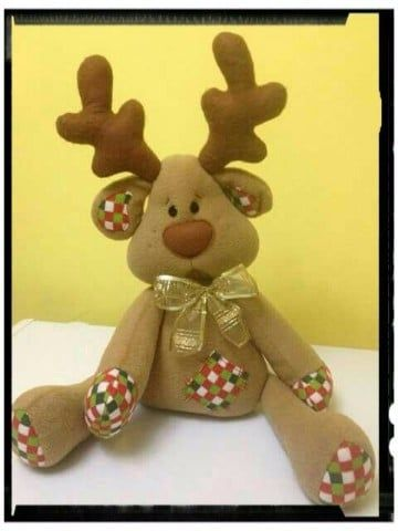 Grandes renos navideos en tela y foami paso a paso Navidad Ideas