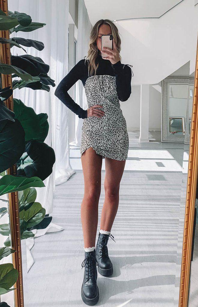 Nettie Sleeveless Dress Leopard