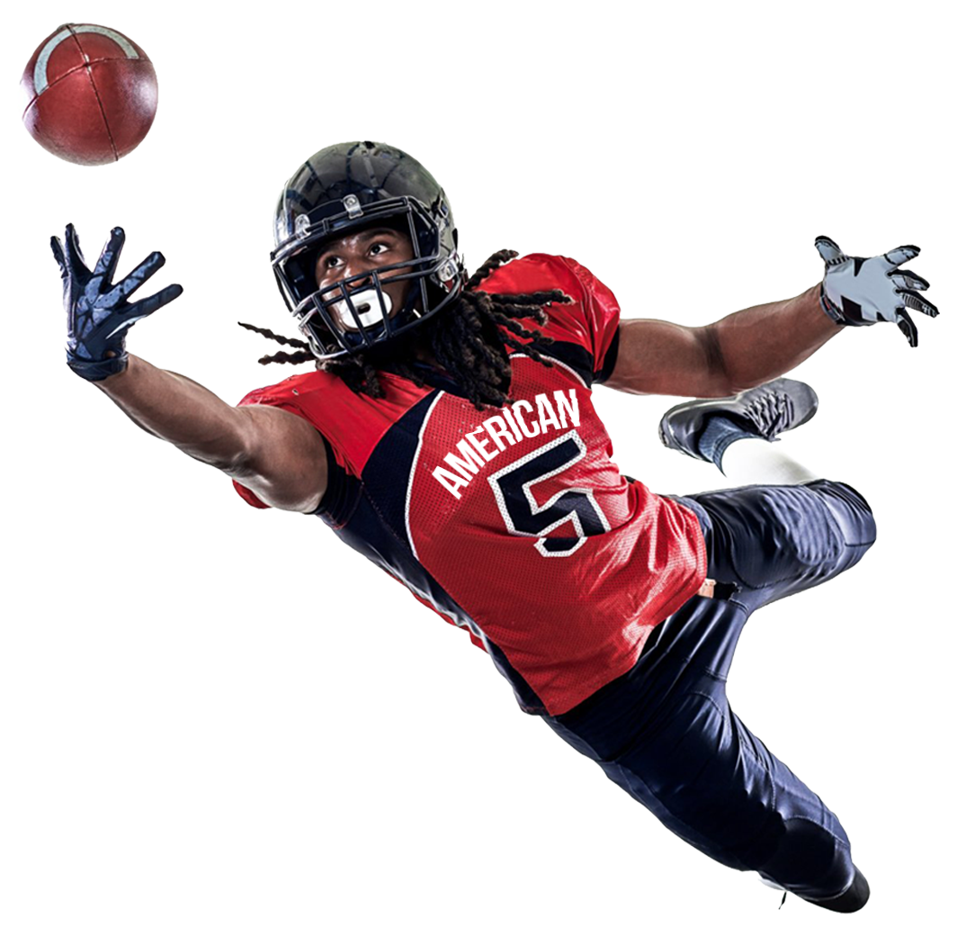 American Football Player Catching A Ball Png Image American Football Players American Football Football Players