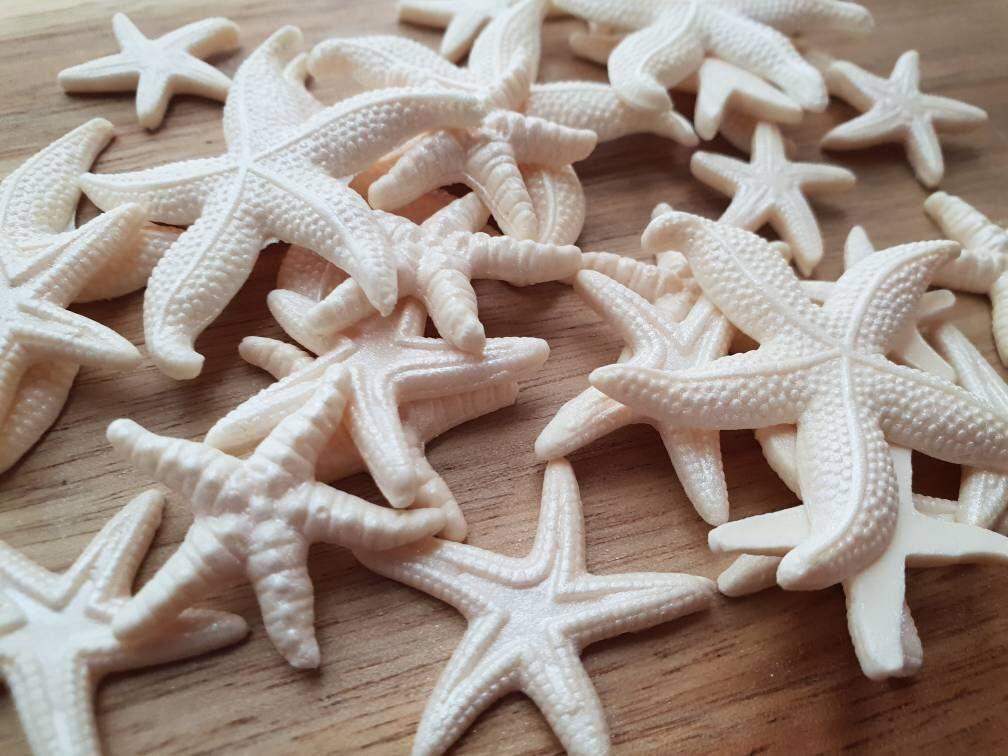 Edible sugar starfish seashells creamivory cake cupcake