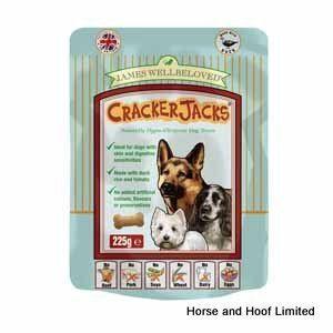 James Wellbeloved Cracker Jacks Duck Dog Treats 225g Dog Treats