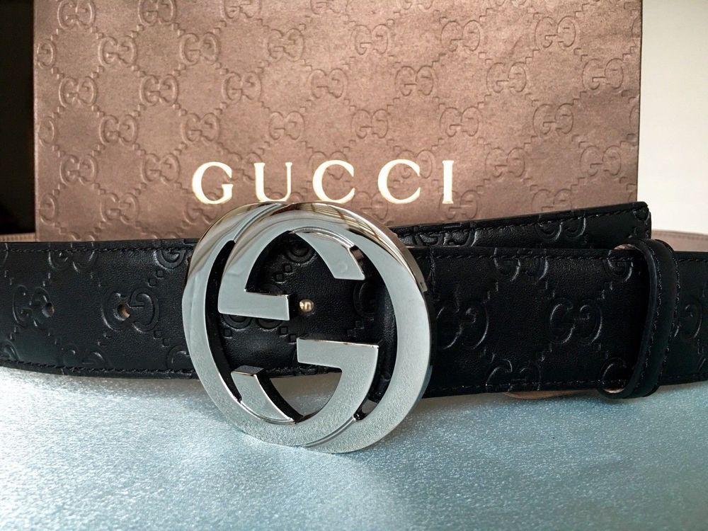 30465e544e6 New w  Tags Authentic Black Guccissima Gucci Belt 110 cm fits 36-40 waist   fashion  ebay  motors  partsaccessories  boatparts (ebay link)
