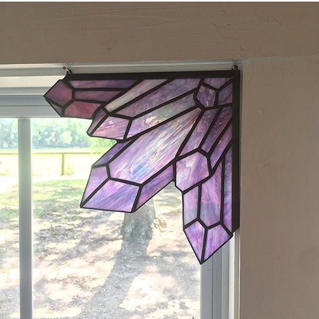 Stained Glass Crystal Window Corner Gothic Home Decor Glass
