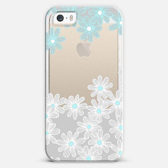 #daisy #transparent #iPhone #casetify #micklyn #illustration #white #grey #aqua