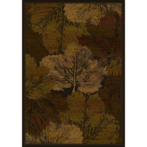 Fall Canvas Brown Rectangular: 3 Ft. 11-Inch x 5 Ft. 3-Inch  Rug - (In No Image Available)