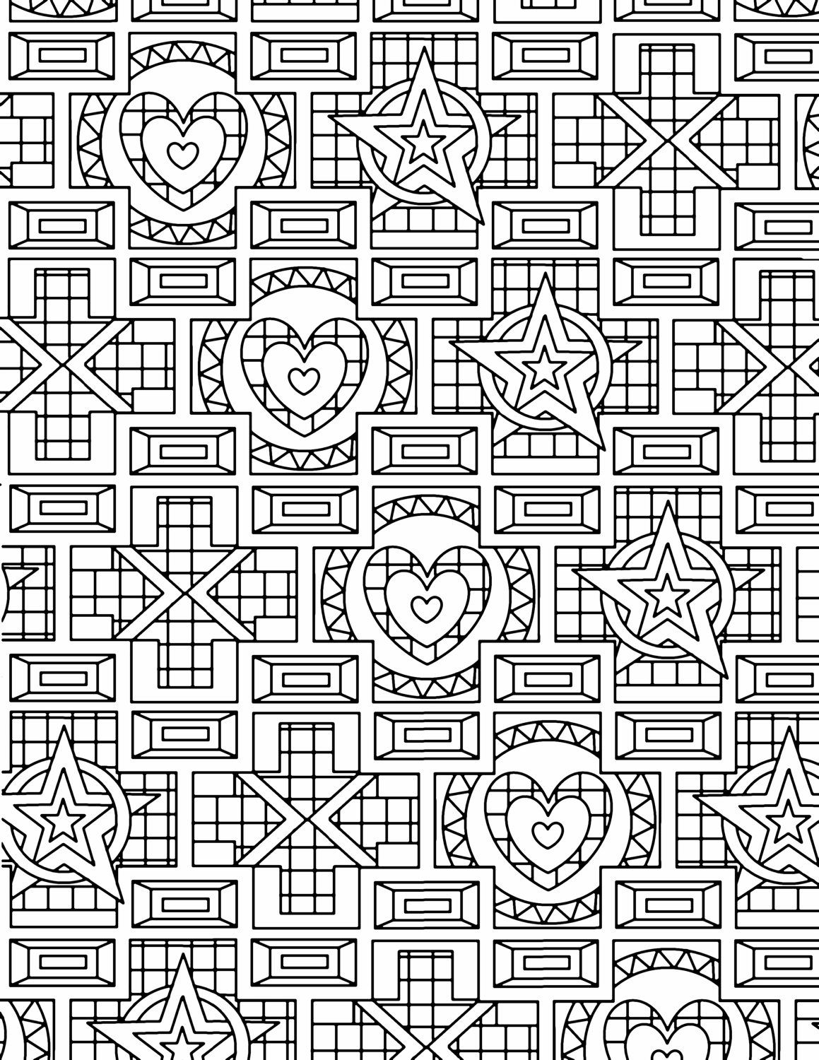 Colouring pages geometric patterns - 25 Coloring Pages Geometric Patterns By Littleshoptreasures