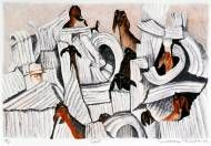 Philip Bacon Galleries :: Artists & Stockroom Lithograph of Nubian goats by William Robinson