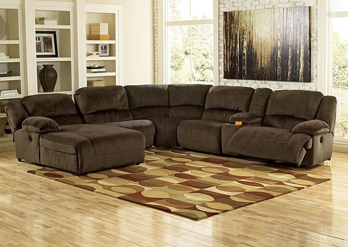Pc Tucker Collection Brown Bomber Jacket Microfiber Upholstered - Sectional sofas with electric recliners